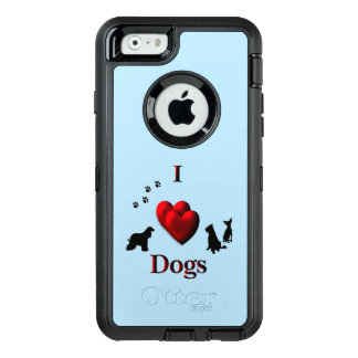 I Heart Dogs OtterBox Defender iPhone Case
