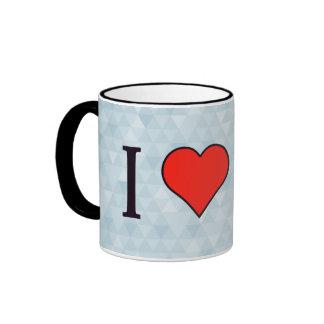 I Heart Doing Yoga Ringer Mug