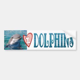 "I ""Heart"" DOLPHINS Bumper Sticker"