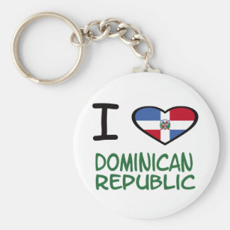 I Heart Dominican Republic Basic Round Button Key Ring