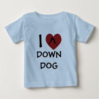 I Heart Down Dog - Baby Yoga Clothes Tshirts