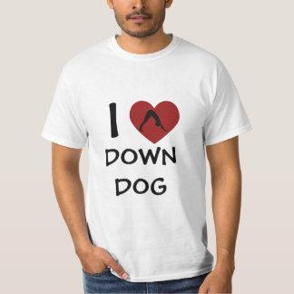 I Heart Down Dog - Yoga Tee Shirts