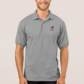 I heart drink & art polo shirts