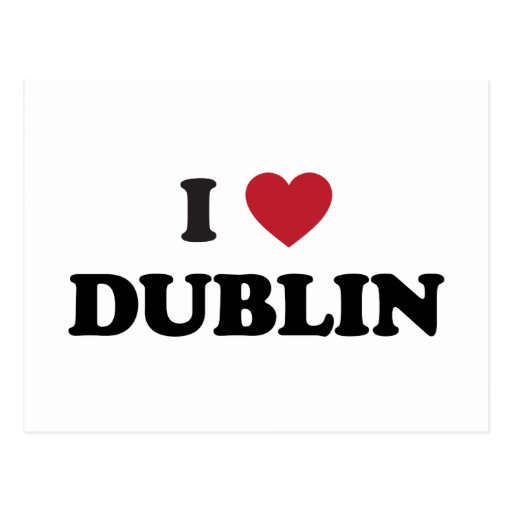 I Heart Dublin Ireland Postcards
