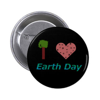 I Heart Earth Day 6 Cm Round Badge