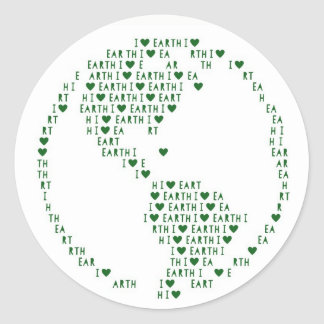 I Heart Earth Sticker