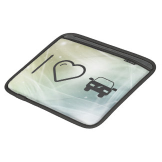 I Heart Eco Cars Sleeves For iPads