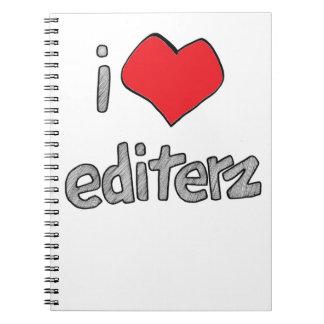 i heart editerz spiral notebook