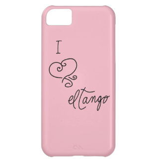 I Heart el Tango Phone Case, Pink iPhone 5C Case