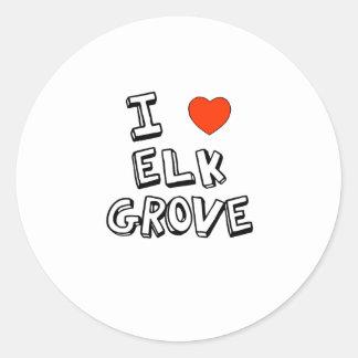 I Heart Elk Grove Round Sticker