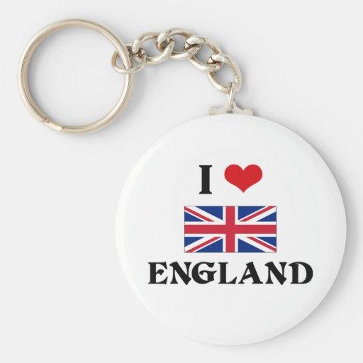 I HEART ENGLAND KEY CHAINS