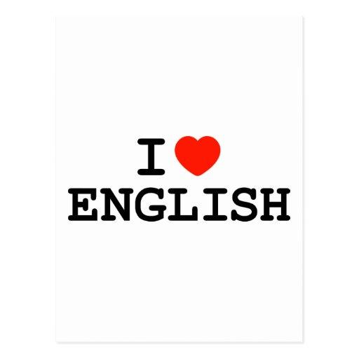 I Heart English Postcards