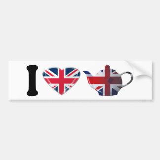 I Heart English Tea Gifts Bumper Sticker