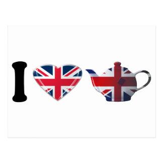 I Heart English Tea Gifts Postcard