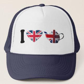 I Heart English Tea Gifts Trucker Hat