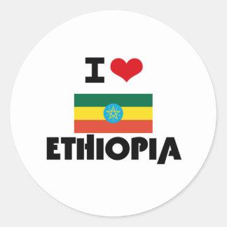 I HEART ETHIOPIA CLASSIC ROUND STICKER