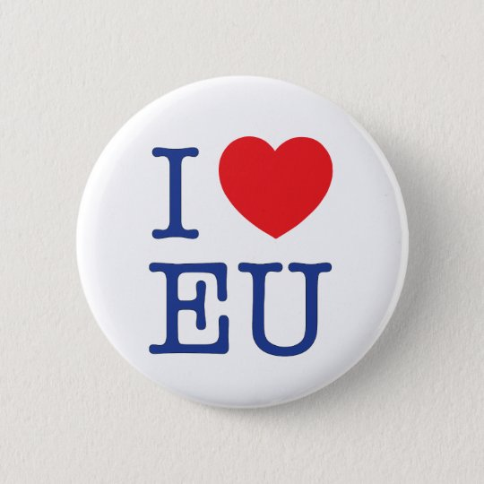 """I Heart EU"" Badge / Pin / button"