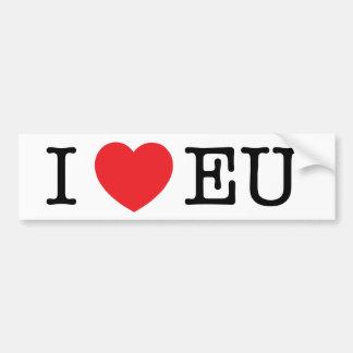 """""""I Heart EU"""" Bumper Sticker"""