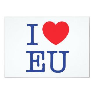 I Heart EU Postage Envelope 13 Cm X 18 Cm Invitation Card