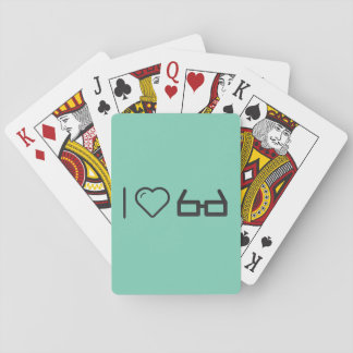 I Heart Eyeglass Squares Playing Cards
