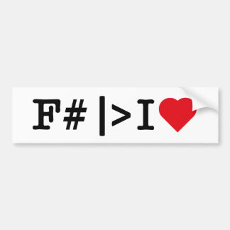 I Heart F# bumper sticker