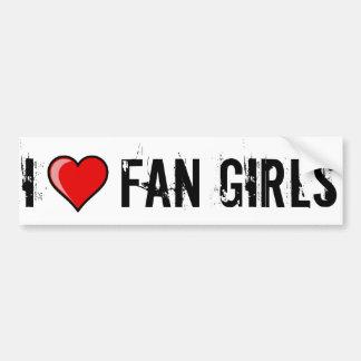 I Heart Fan Girls Bumper Sticker