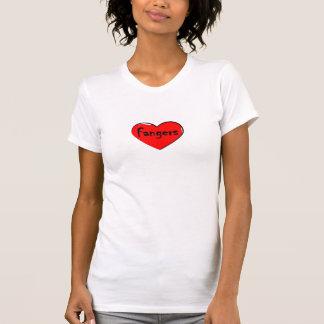 I heart fangers t-shirt
