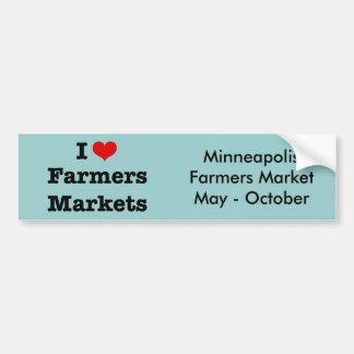 I Heart Farmers Markets Bumper Sticker