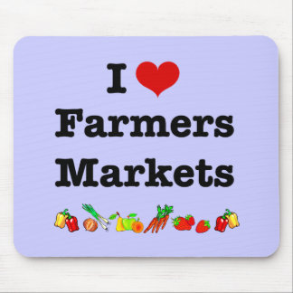 I Heart Farmers Markets Mousepads