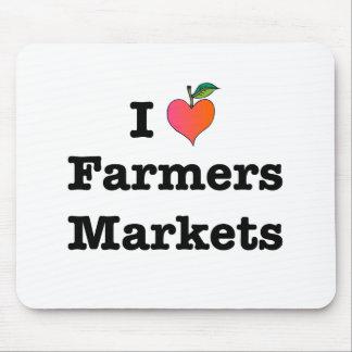 I Heart Farmers Markets Mouse Pad