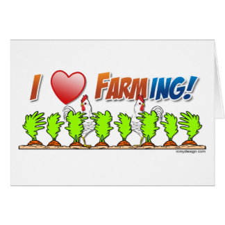 I Heart Farming Card