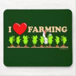 I Heart Farming Mouse Pad