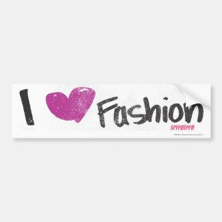 I Heart Fashion Aqua Bumper Stickers