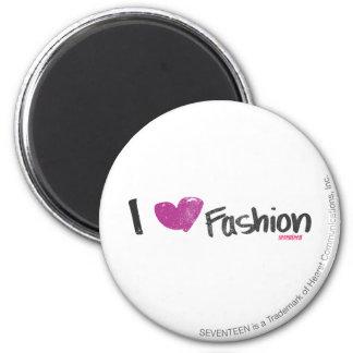 I Heart Fashion Aqua 6 Cm Round Magnet
