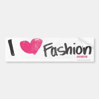 I Heart Fashion Magenta Bumper Sticker