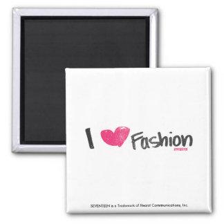 I Heart Fashion Magenta Square Magnet