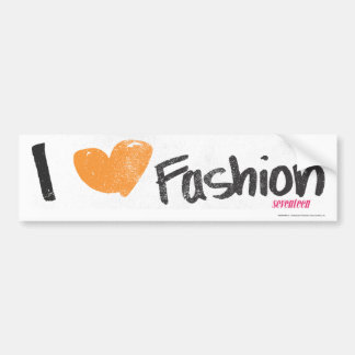 I Heart Fashion Orange Bumper Sticker