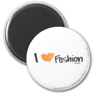 I Heart Fashion Orange Refrigerator Magnets