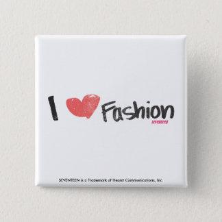 I Heart Fashion Purple 15 Cm Square Badge