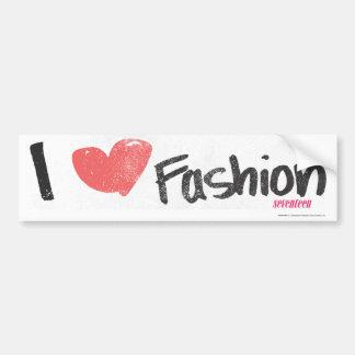 I Heart Fashion Purple Bumper Sticker