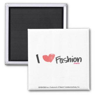 I Heart Fashion Purple Square Magnet