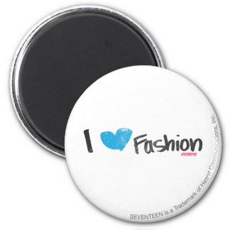 I Heart Fashion Yellow 6 Cm Round Magnet