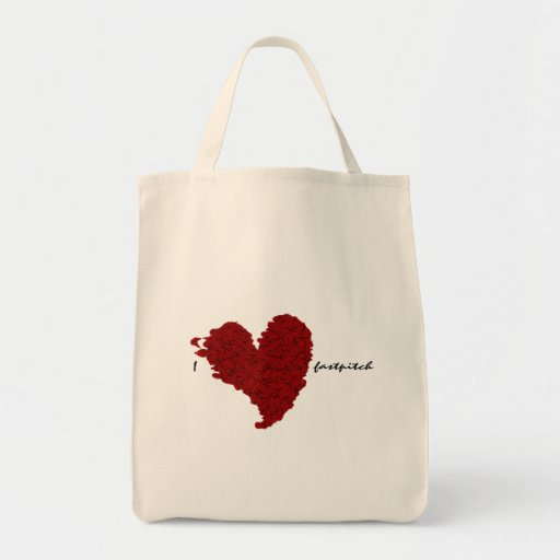 I Heart Fastpitch Tote Bag