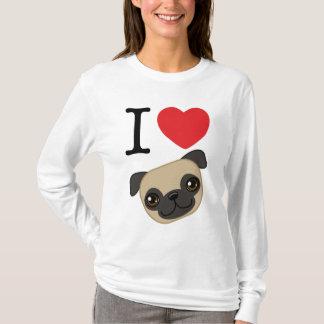 I Heart Fawn Pugs T-Shirt