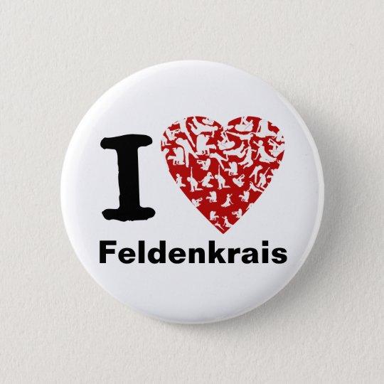 I Heart Feldenkrais Button | Red Heart