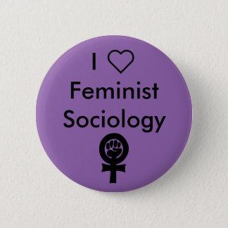 I heart Feminist Sociology 6 Cm Round Badge