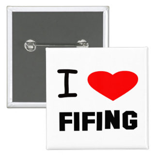 I Heart fifing 15 Cm Square Badge