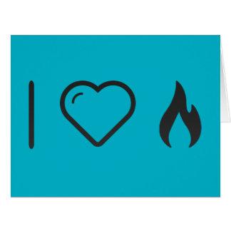 I Heart Fire Circles Big Greeting Card