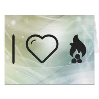 I Heart Fire Coals Big Greeting Card