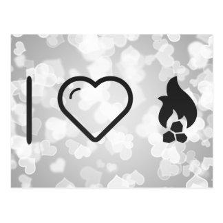 I Heart Fire Coals Postcard